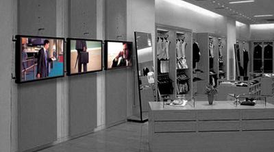 digital signage comercio OmDigital Soluciones Audiovisuales