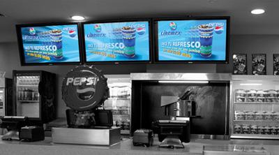 digital signage restaurante OmDigital Soluciones Audiovisuales