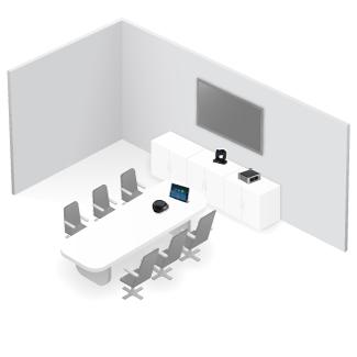Videoconferencia en sala grande OmDigital