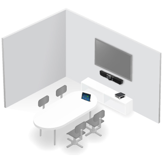 Videoconferencia en sala mediana OmDigital